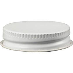 White Metal Screw Cap for...