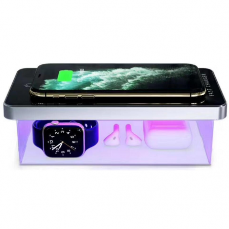Portable Travel UV Disinfection Sterilization Box Fast Wireless Mobile Charger