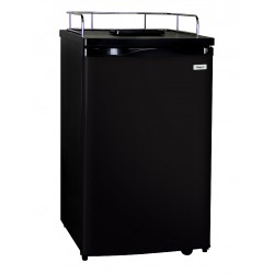 "20"" Wide Black Kegerator -..."
