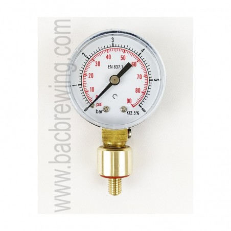 BacBrewing Aphrometer (0-6 Bar) for Bottles with Vent