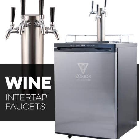KOMOS Wine Kegerator with Intertap Stainless Steel Faucets