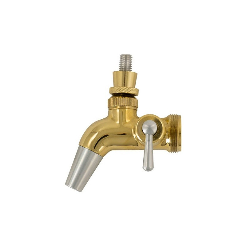 Intertap Forward Sealing Gold Plated Flow Control Faucet Homebrew Beer Keg Tap