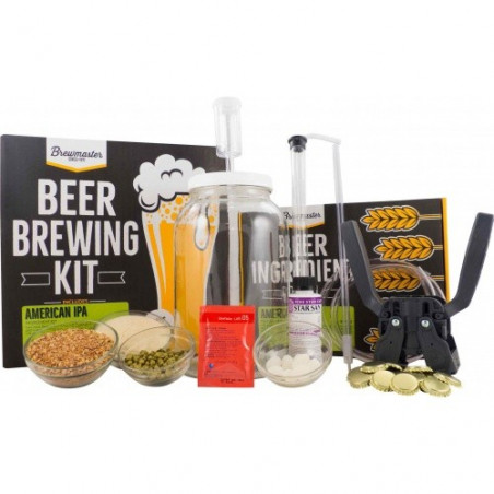 Brewmaster 1 Gallon Homebrew Starter Kit (Includes American IPA Recipe Kit)