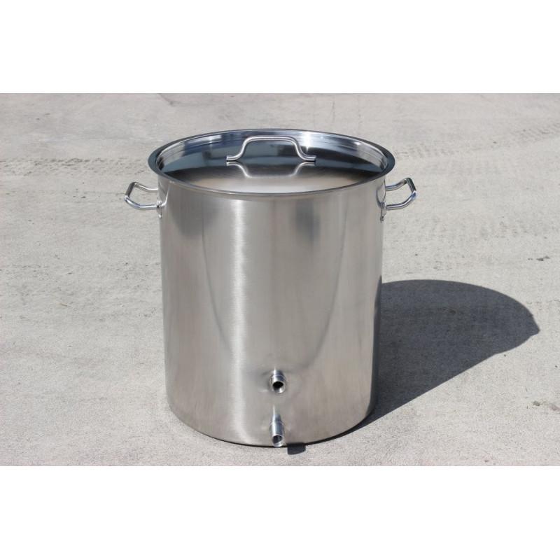 Custom Stainless Steel Brew Kettle w/ Welded on Couplers