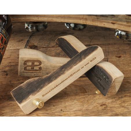 Bourbon Barrel Wood 7.62mm Bullet Bottle Opener