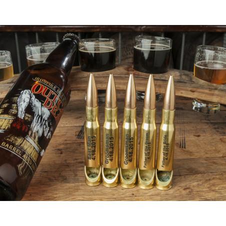 Groomsman Set of .50 Caliber Bullet Bottle Openers