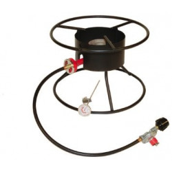 "King Kooker 12"" Outdoor Cooker Pkg with Large 17"" Top for Brewing"