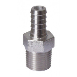 Stainless - 1/2 in. MPT x...