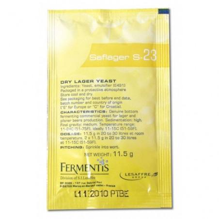 Lesaffre Fermentis Saflager S-23 Dry Lager Yeast - 11.5g