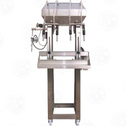 4 Head Gravity Filler, with Pump and Leveller option