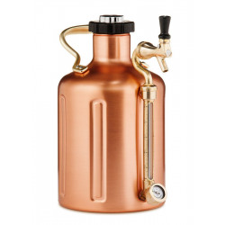 GrowlerWerks UKeg 128 oz Pressurized Copper Growler