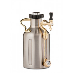 GrowlerWerks Pressurized Stainless Growler - 64 oz
