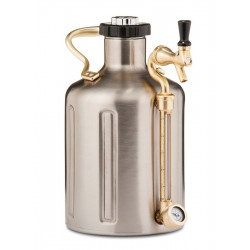 GrowlerWerks UKeg 128 Pressurized Stainless Growler - 128 oz