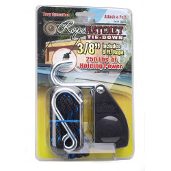 """Ratchet Pulley Metal Gear - 3/8"""" Rope - 250 lbs Capacity - 10 gallons or more"""