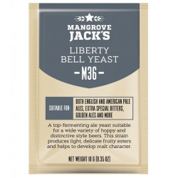 Mangrove Jack's M36 Liberty Bell Ale Craft Series Dry Beer Yeast 10 G for 6 Gal