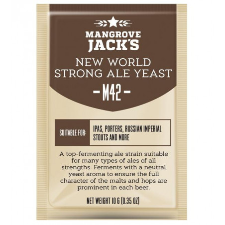 Mangrove Jack's M42 New World Strong Ale Craft Series Beer Yeast 10 G for 6 Gal