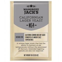 Mangrove Jack's M54 Californian Lager Craft Series Beer Yeast 10 G for 6 Gal