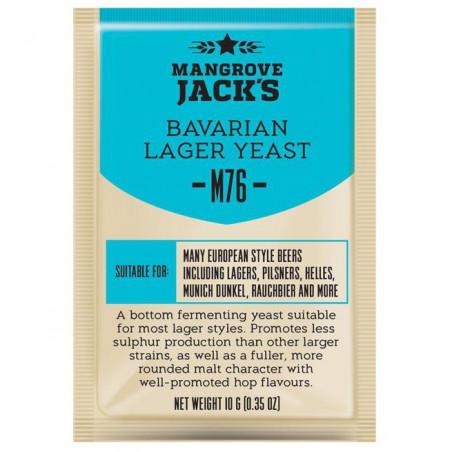 Mangrove Jack's M76 Bavarian Lager Craft Series Beer Yeast 10 G for 6 Gal