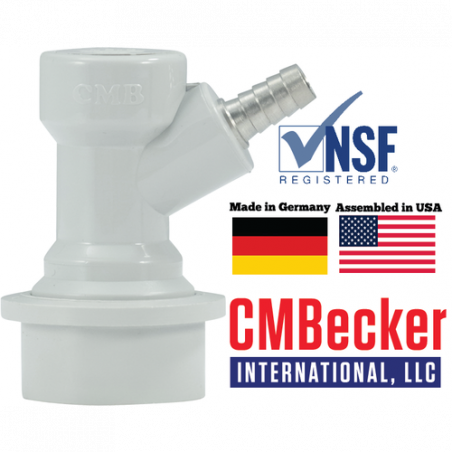 CM Becker Ball Lock Disconnect Gas In - 1/4″ Barb